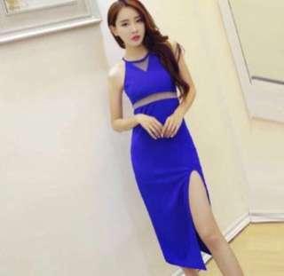 Instock: Evening Blue Maxi Dress