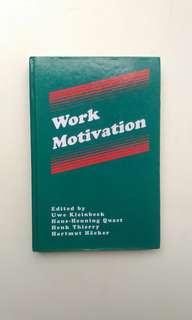 Work Motivation, self development book.
