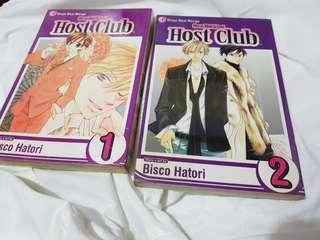 Ouran Highschool Host Club Manga Volumes 1 and 2
