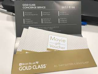 (Reserved)GV Gold Class Tickets 1 Pair