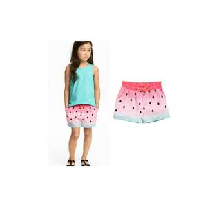 H&M kids shorts and side pocket 2to10yrs old