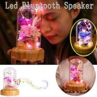 Led light Bluetooth soap rose flower speaker