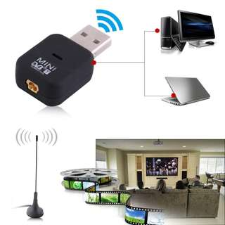 🚚 USB DVB-T Digital TV Receiver Tuner Stick Dongle OSD MPEG-2 MPEG-4 For Laptop PC