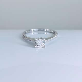 日本鑽石白金戒指 Japanese style Diamond White Gold Ring