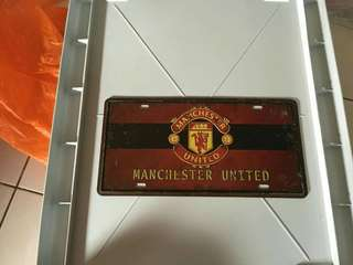 Manchester United FC Metal Plat