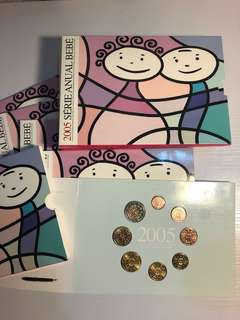 10 sets *Portugal 2005 Baby Euro coin set