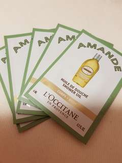 5 x 6ml L'occitane Shower Oil