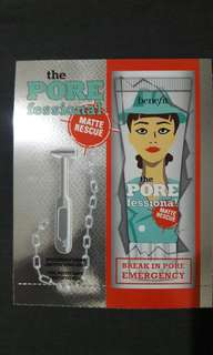 Benefit the porefessional matte rescue sample size 0.5ml