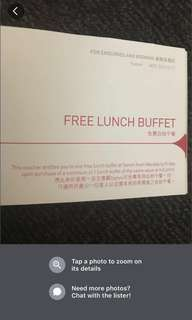 美麗華酒店劵免費自助午餐一位free buffet vouchers hotel yamm miraplus hotel, 同時買其他衫褲帽呔及玩具,可有少議