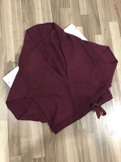 Maroon Throwover Knit