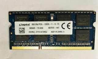 Used Kingston 8GB PC3L-12800S laptop ram