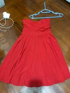 ASOS gradin dress red