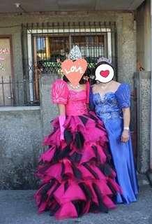 Fuschia pink gown