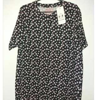 Floral Pull& Bear Shirt