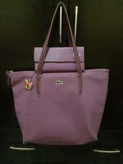 Authentic lacoste bag & wallet ( violet)