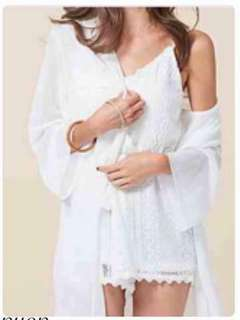 🚚 全新現貨代購💲 690今天訂明天出❤️   #韓妞最愛高品質蕾絲綁帶連身褲罩衫套組