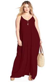 Sleeveless Maxi Dress for Plus size