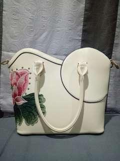 Scada hurf handbag - broken white