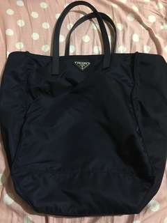 Prada vela shopping bag