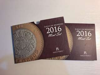 Mexico 2016 official bank coin set with 4 bimetallic coins