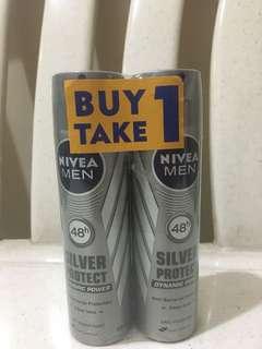 Nivea men silver protect deo spray buy 1 take 1