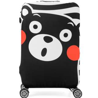 Black little bear luggage cover