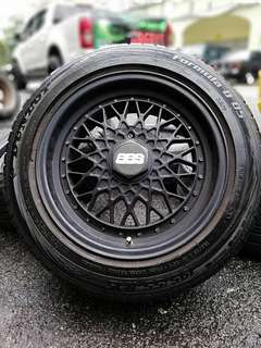 Bbs rs 15 inch sports rim alza tyre 70%. *mora mora kasi you*