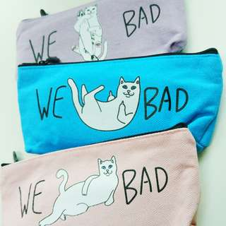 We bad cats pouch