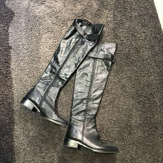 Tony bianco knee high leather boots sz7