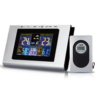 426. TS-H127G 433MHz Wireless Weather Station Temp Alert Clock Thermometer