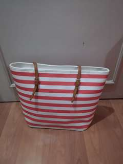Cute Coral Striped Bag