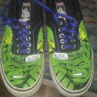 Vans x Marvel comics The Hulk
