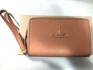 Vivienne Westwood 粉紅 真皮 銀包 手機袋 半價以上