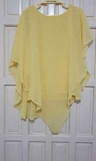 Yellow Chiffon Blouse