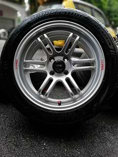 Enkei rpf1 16 inch sports rim honda city tyre 70%. *kuat kuat offer*