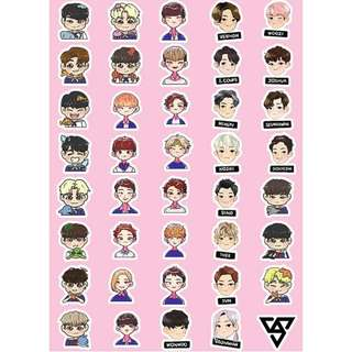 Preorder - SEVENTEEN CARTOON VER. STICKER exc.pos
