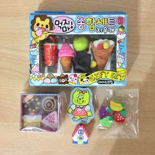 Brand New Assorted Erasers