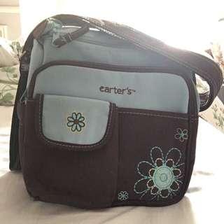 USED - Carter's Mini Flower Diapers Bag