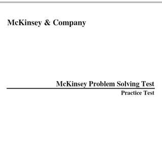 Mickensey PST and Case Interview books (share cost)