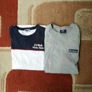 Sepaket long sleeve fila dan dickies