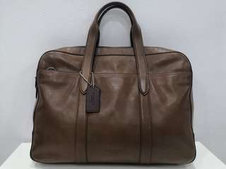 Coach Men Brown Leather Suitcase (2017)