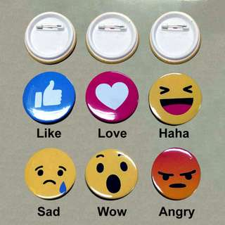 Like It Physically Button Badge