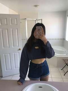 Cropped Vintage Reebok hoodie