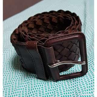 Authentic Club Monaco Woven Pina Ceinture Leather Belt