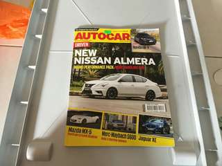 Auto Car Mag with Nissan Almera cover