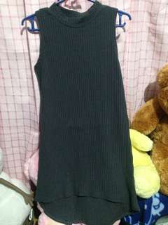 UNUSED GRAY FITTED DRESS