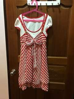 🚚 法國娃娃假二件式洋裝