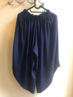cotton ink dark blue pants