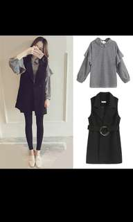 Long Sleeve Top with Coat