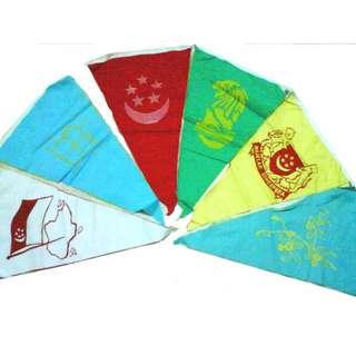 LARGE SINGAPORE BUNTING FLAG